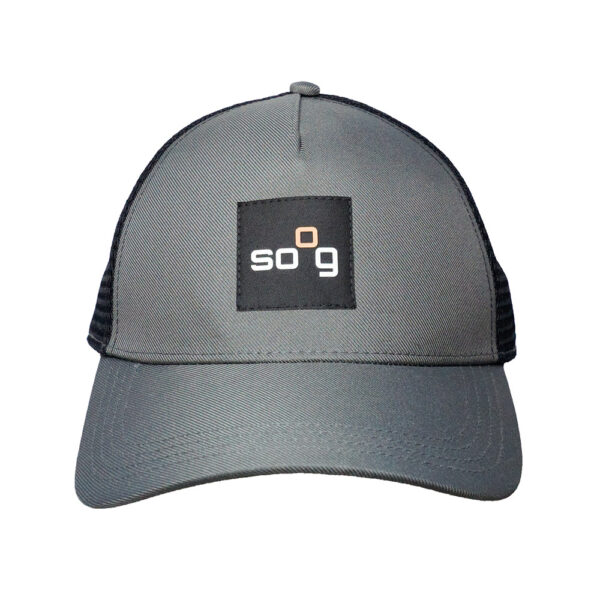 Trucker-Cap recyclet Grau/Schwarz